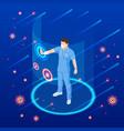 the virus attacks respiratory tract pandemic vector image