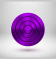 violet technology circle metal badge vector image vector image