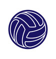 volleyball abstract logo vector image