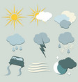 weather forecast icons set for designers vector image