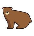 wild grizzly bear icon vector image vector image