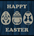 wooden easter background vector image vector image