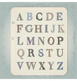 hand drawn abc letters vector image