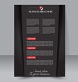Brochure template Business flyer vector image