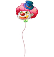 A colourful clown balloon vector image vector image