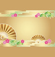 a japanese new years card template vector image vector image