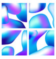 a set trendy liquid backgrounds blue cyan on vector image vector image