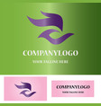 abstract hand logo vector image