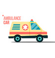 ambulance car emergency truck hurry medic vector image vector image