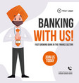 banner design banking with us