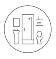 Bathroom line icon vector image vector image
