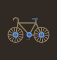 bike icon flat in black on white background eps 10 vector image