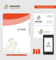 bird business logo file cover visiting card and vector image vector image