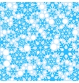 Blue background seamless snowflakes vector image vector image