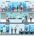business people working in office set men and vector image vector image