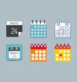 calendar web icons office organizer vector image vector image