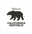 California republic t-shirt graphics vector image vector image