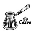 cezve traditional turkish coffee pot vector image vector image
