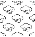 Chef or cook caps seamless outline pattern vector image vector image
