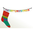 christmas sock for gifts vector image vector image