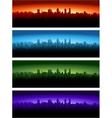 cityscape at different time day vector image vector image