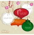 colorful little notes with space for text christma vector image vector image