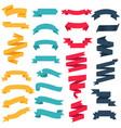 colorful web ribbon big set white background vector image vector image