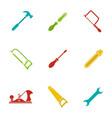 construction tools glyph color icon set vector image