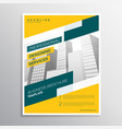 creative yellow grometric business flyer brochure vector image