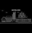 dayton silhouette skyline usa - dayton vector image vector image