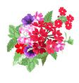 decorative floral bouquet vector image vector image