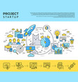digital yellow and blue startup vector image vector image