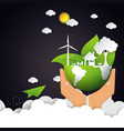 eco and nature concept with green earth vector image vector image