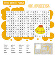 educational game for kids word search puzzle with vector image vector image