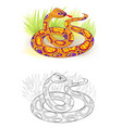 fantasy fairyland royal python colorful vector image