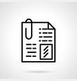 file with clip simple line icon vector image