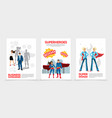 flat superhero characters posters vector image vector image