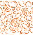 fruits seamless background or pattern natural vector image vector image
