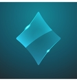glass game rhombus icon vector image