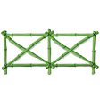 Green bamboo fence vector image vector image