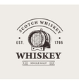 Hand drawn whiskey logo Typography monochrome vector image
