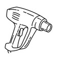 heat gun icon doodle hand drawn or outline icon vector image