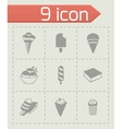 ice-cream icon set vector image