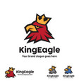 king eagle logo template vector image vector image