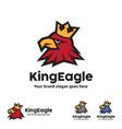 king eagle logo template vector image