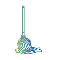 Line mop sweep object to clean the house vector image