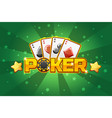 logo text poker and playing cards for ui game vector image