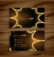 luxury business card in golden style vector image vector image