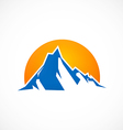 mountain abstract horizon logo vector image