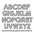outline Alphabet vector image vector image